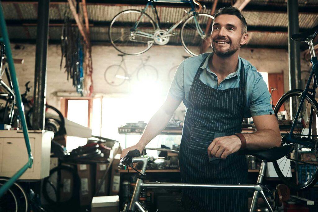 Bike shop business owner