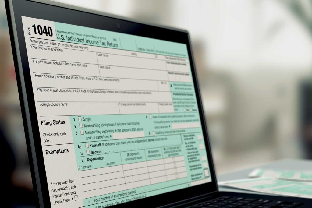 Electronic Form 1040